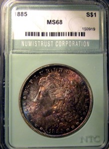 1885 Morgan Dollar NTC MS68