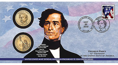 Franklin Pierce Coin Cover