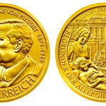 Clemens von Pirquet 50 Euro Gold Coin Issued by Austiran Mint