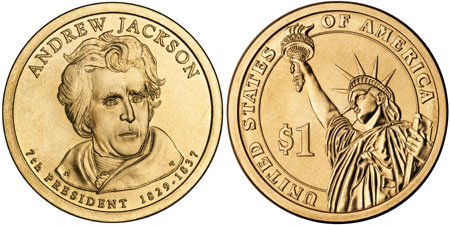 andrew jackson 7th president biography coins