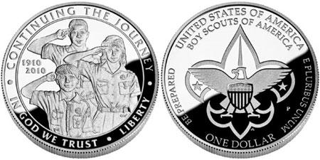 Proof Boy Scouts Silver Dollar