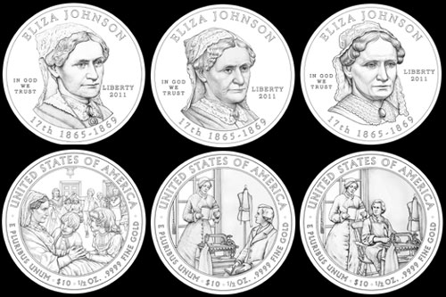 Other design candidates for Elza Johnson coin