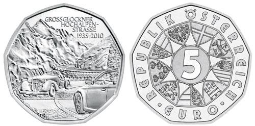 Grossglockner 5 Euro Silver Coin