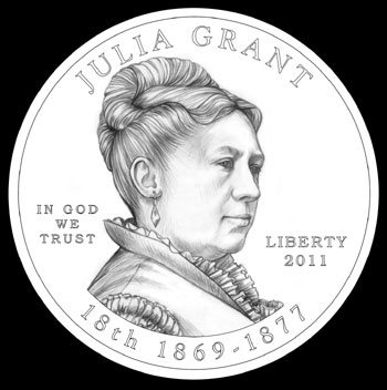 Julia Grant First Spouse Gold Coin (CCAC recommended design)
