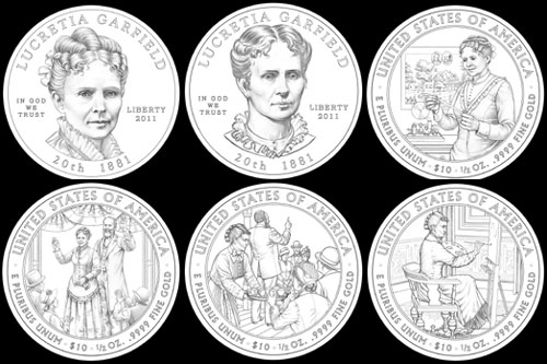 Other design candidates for the Lucretia Garfield coin