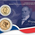James Buchanan Presidential $1 Coin and First Spouse Medal Set