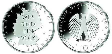 German Unification Silver Coin
