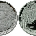 Giorgione 10€ Silver Coin from the Italian State Mint