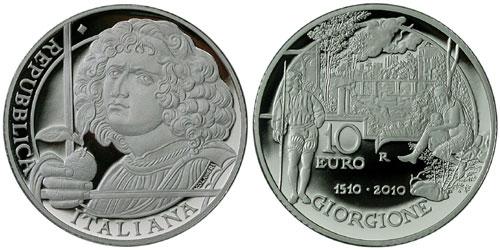 Giorgione Italian Euro Coin