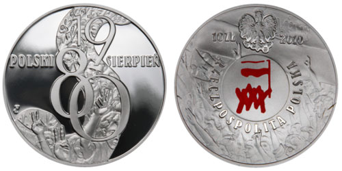 Silver Coin Marks the 30th Anniversary of Poland's