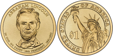 Abraham Lincoln Featured On Presidential 1 Coin Coin Update