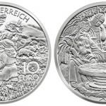Austrian Mint Charlemagne in Untersburg €10 Silver Coin