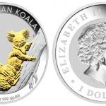 2011 Australian Silver Koala Gilded Edition