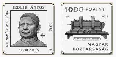 Anyos Jedlik Hungarian Coin
