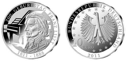 Franz Liszt Silver Coin