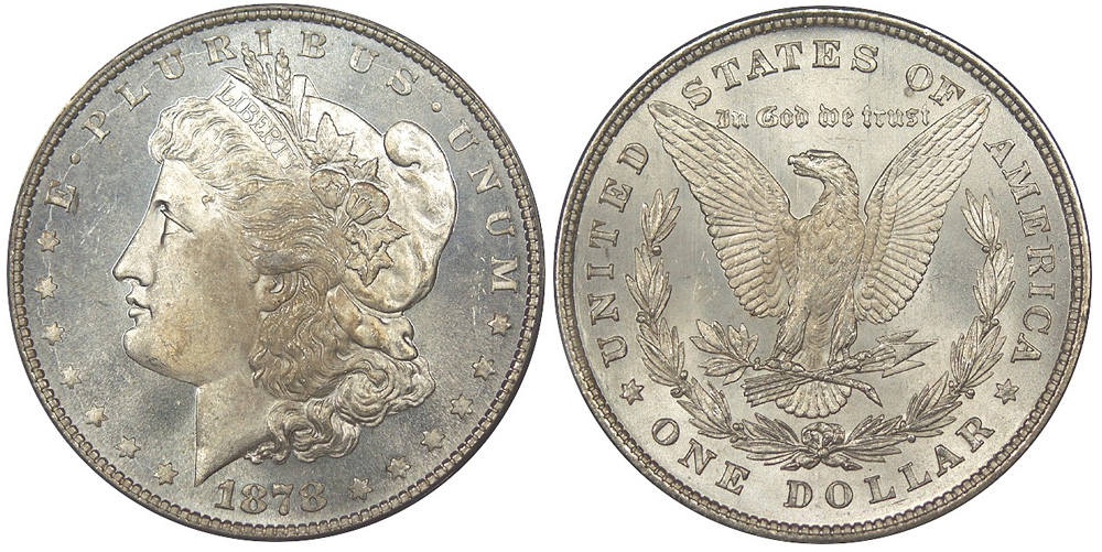 1878 Morgan Dollar, 8 Tailfeathers