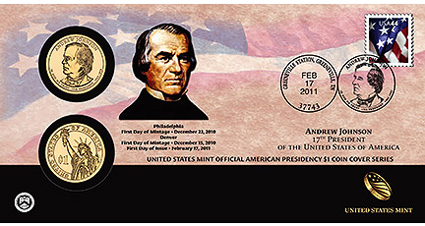 Andrew Johnson Coin Cover