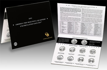 2011 America the Beautiful Quarters Uncirculated Coin Set