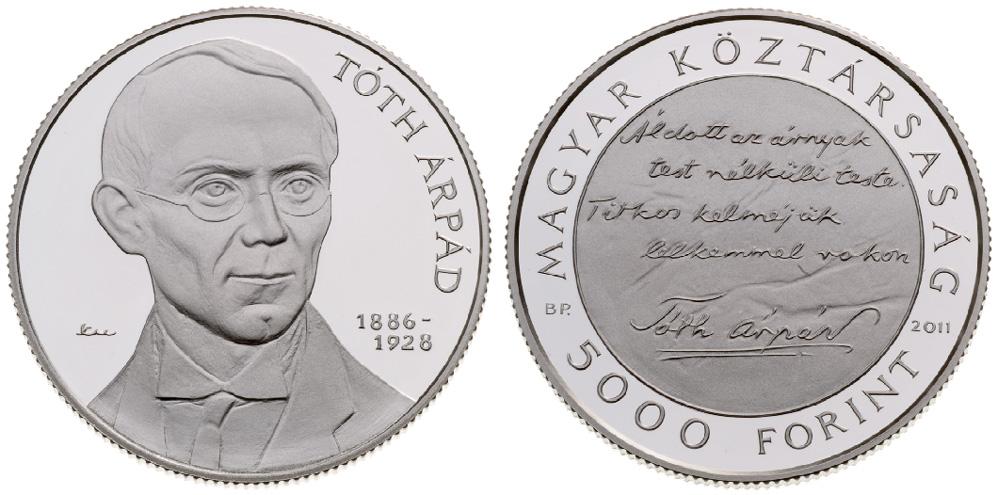 Arpad Toth Hungarian Coin