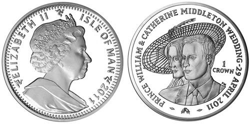Isle of Man Royal Wedding Coin