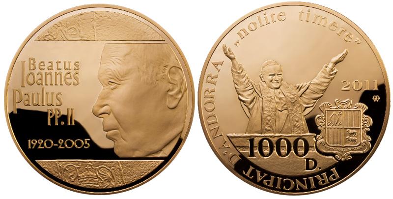 John Paul II Kilo Gold Coin
