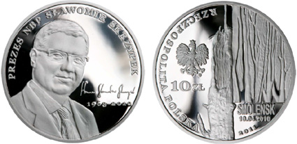 70th anniversary of the Katyn massacre 2010 POLAND SILVER PROOF