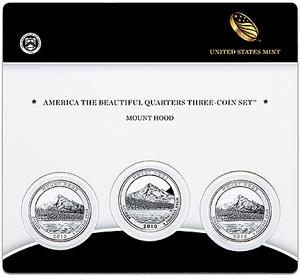 Mount Hood Three Coin Set