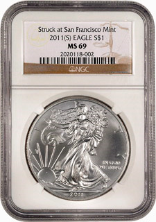 2011(S) Silver Eagle, Image: NGC