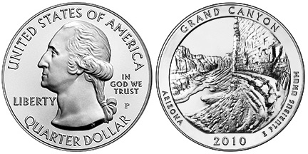 Grand Canyon National Park Silver Coin