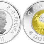 2011 Buck Moon $5 Silver and Niobium Coin from the Royal Canadian Mint