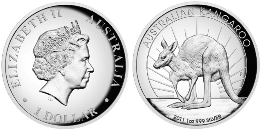 2011 High Relief Silver Kangaroo