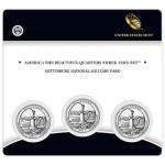 2011 Gettysburg National Military Park Quarter Three Coin Set