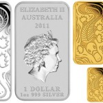 Platypus Dreaming Gold and Silver Rectangular Coins