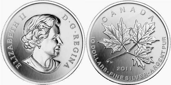 2011 Silver Maple Leaf Forever