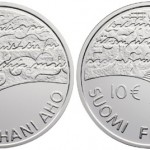 Juhani Aho €10 Silver Coin Issued by Mint of Finland