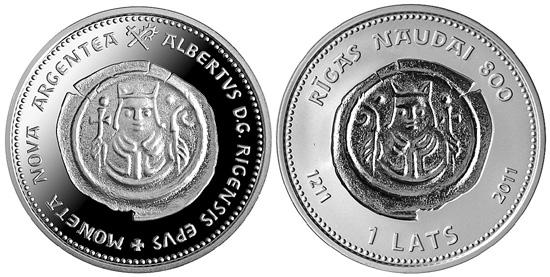 Latvian Coin