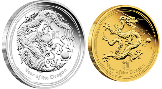 CHINA New Year Commemorative Coin 2012 Dragon Year