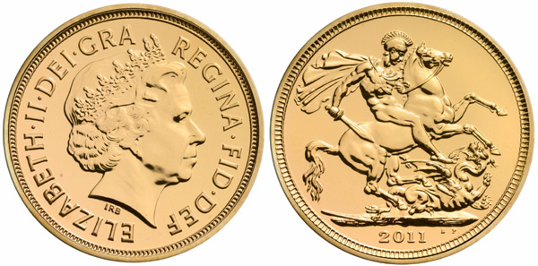 2011 British Gold Sovereign