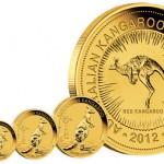 2012 Australian Kangaroo Gold Bullion Coins