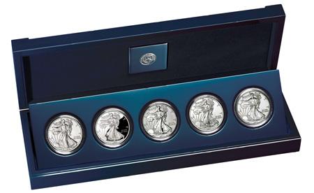 25th Anniversary Silver Eagle Set