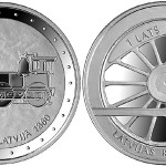 Latvian Coin Celebrates 150 Years of Rail Transport
