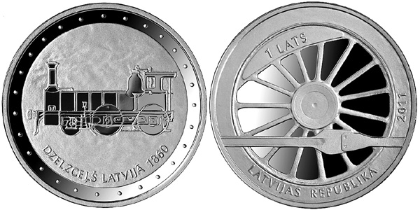 Latvia Railway Coin