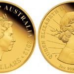 Queen Elizabeth II Diamond Jubilee 2 Ounce Gold Coin Released by Perth Mint