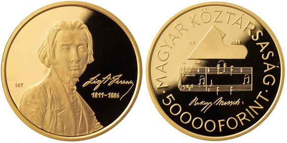 Franz Liszt Gold Coin