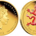 2012 Year of the Dragon Gold Proof Colored Coins Available