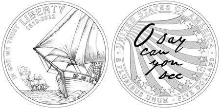2012 Star Spangled Banner $5 Gold Coin
