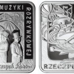 Polish Entertainers Jeremi Przybora and Jerzy Wasowski Featured on Square Coin