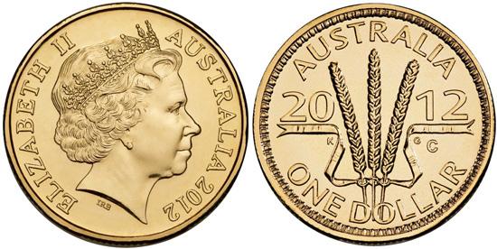 2012 Wheat Sheaf Dollar