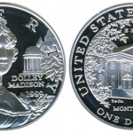 Dolley Madison Silver Dollar Featured Designs by Tiffany & Co.