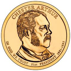 Chester Arthur Presidential Dollar